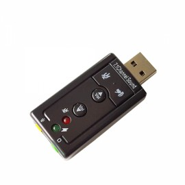 USB External Sound Card Supports Remix and Sound Card to Simulate 7.1 Black