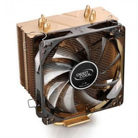 Deepcool 400 Snow Leopard Plus Version 12cm 4pin CPU Cooler Fan With LED for Computer - Gold