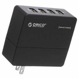 ORICO DCA-4U Compact 4 Ports USB Wall Charger for iPhone iPad Samsung HTC Black US Plug
