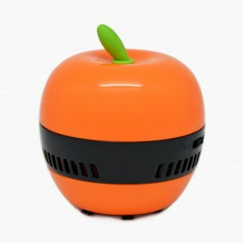 Mini Cute Apple Design Desktop Dust Collector Home Handheld Vacuum Cleaner Light Orange