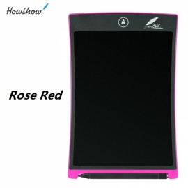 "Howshow 8.5"" E-Note Paperless LCD Writing Tablet Office Family School Drawing Graffiti Toy Gift Rose Red"