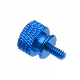 10pcs Flange Chassis Computer Case Hand Screw Cap Aluminum Alloy US Standard 6# -32 Royalblue