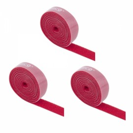 ORICO CBT-1S Reusable Velcro Cable Ties Wire Management Bands Binging Strap Seals with Label Red *3