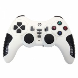 CX506 Plastic Wireless USB Computer Game Controller for PC White