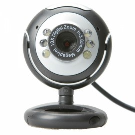 5.0 Megapixel USB PC Webcam Camera for Notebook Laptop Black
