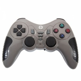 CX506 Plastic Wireless USB Computer Game Controller for PC Gray