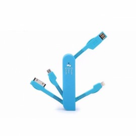 Universal Saber Shape 3-in-1 Micro USB Cable Data Sync Charger Charging Mobile Phone Cable for Samsung HTC Apple iPhone 6 Plus 5 5C 5S 4S Random Color