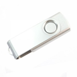 4GB Rotate USB Flash Drive Silver