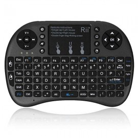 Rii i8+ Multi-function 2.4GHz Wireless Touchpad QWERTY Keyboard for Android Box Black