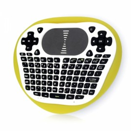 T8 Mini Wireless Keyboard 2.4G Air Mouse with Multi-touch Touchpad for Android TV Box Laptop Tablet Yellow