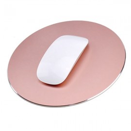 220 x 220mm Aluminum Metal Anti Slip PC Computer Laptop Gaming Mouse Pad Rose Golden