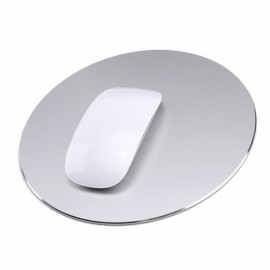 220 x 220mm Aluminum Metal Anti Slip PC Computer Laptop Gaming Mouse Pad Silver