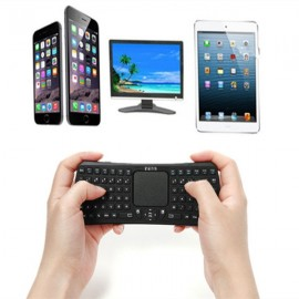 3-in-1 Seenda IBK-26 Mini Portable Mouse Touchpad Wireless Bluetooth Keyboard for Android ISO Window Black