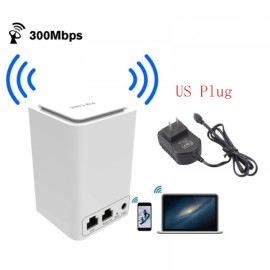 Wireless Router WiFi Mini Signal Relays 300M 2.4 Ghz wi - fi 802.11 b / g / n Router (US Plug)