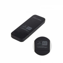USB AC1200M Portable Wireless Wireless Network Card Wifi 802.11 b / g / n- (Black)