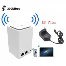 Wireless Router WiFi Mini Signal Relays 300M 2.4 Ghz wi - fi 802.11 b / g / n Router (EU Plug)