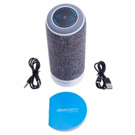 Missile Air Smart Compact Indoor Bluetooth Speaker Gray (Gift Pack)