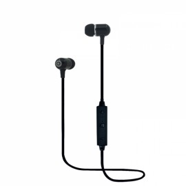 BT-5 Ear Plug Style Bluetooth V4.1 Headset with Selfie Function Black