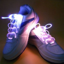 1 Pair LED Flashing Luminous Round Shoelaces Seven Colors