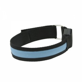 Cool LED Light Fluorescent Night Running Bike Riding Cycling Armband Black & Blue
