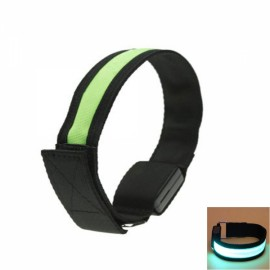 Cool LED Light Fluorescent Night Running Bike Riding Cycling Armband Black & Green