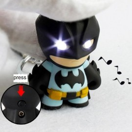 Cool Batman Image Decoration ABS Key Chain with Light and Sound Black & Yellow & Gray