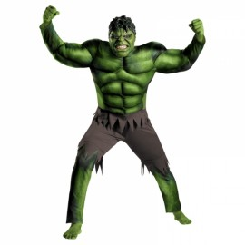 Children Halloween Costume Green Hulk Muscle Cosplay Clothing Green S
