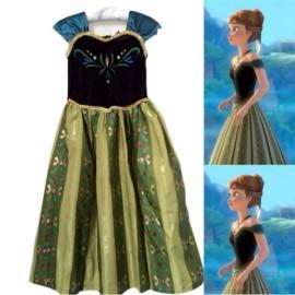 Kids Girls Frozen Anna Princess Party Fancy Gown Dress Costume 140cm