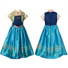 Girls' Princess Elsa Costume Sunflower Decor Party Lace Dress 110cm
