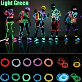 3M Neon Light Flexible Wire Dance Party Decor Light - Green
