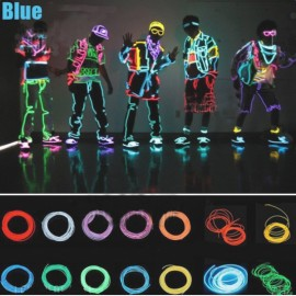 3M Neon Light Flexible Wire Dance Party Decor Light - Blue