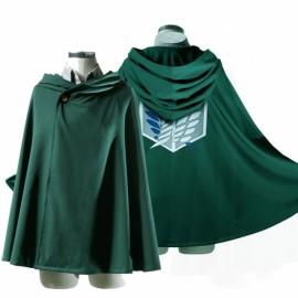 Attack on Titan Anime Shingeki no Kyojin Cloak Cape Cosplay Size 160cm