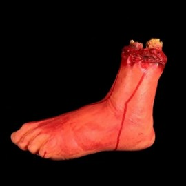 Halloween Horror Props Severed Feet Haunted House Party Decoration Scary Faked Human Arm Finger Leg Foot