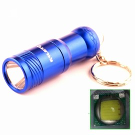 ALETO KL209RST6 1-LED 700LM 3-Mode White Light Flashlight with Keychain Blue (1 x 16340)