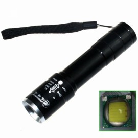 ZSJ B-T40BT6 900LM 1-LED 5-Mode White Super Light Stretchable Zooming Flashlight Black (1 x 18650)