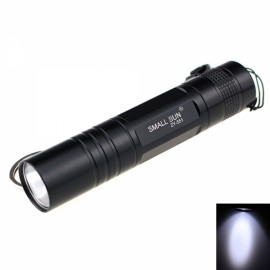 ZY-551 Mini 80LM 1-LED 1-Mode Cool White Flashlight Black (1 x AA)