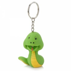 LED Keychain Snake Style White Light with Sound Effect Green & Yellow
