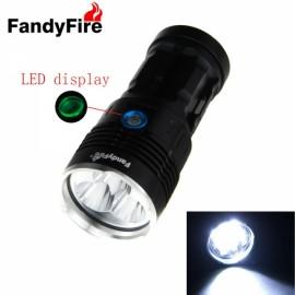 FandyFire Waterproof Flashlight Kerry 5X 2 T6 5800LM Black