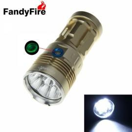 FandyFire Waterproof Flashlight Kerry 5X 2 T6 5800LM Golden