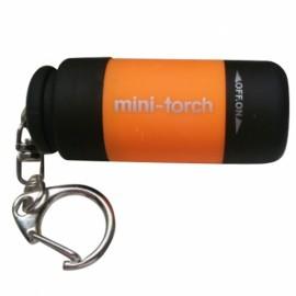 Mini 25 LM USB Rechargeable LED Torch Flashlight Pocket Keychain Orange
