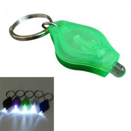 Mini 12 Lumens LED Keychain Flashlight for Camping Hiking - Green