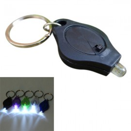 Mini 12 Lumens LED Keychain Flashlight for Camping Hiking - Random color