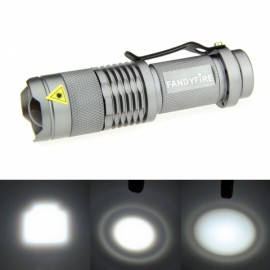 FANDYFIRE 400LM Stretchable Zoomable White Flashlight Silvery Gray