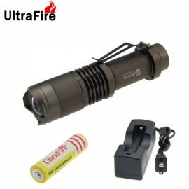 "UltraFire T6 ""850LM"" 5 Modes Focusing White Light Flashlight Bronze"