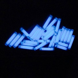 1.5 x 6mm Trit Vials for DQG Fairy LED Flashlight Ice Blue