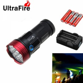 Ultrafire 2 10200LM 9-LED 3 Mode Torch Super Bright White Flashlight