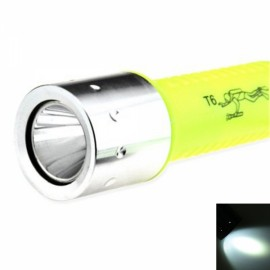 UltraFire LED T6 1000LM 18650 Diving Flashlight - Yellow