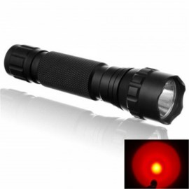 Ultrafire WF-501B High Quality 3W Red Light LED Flashlight for Outdoors & Camping Black
