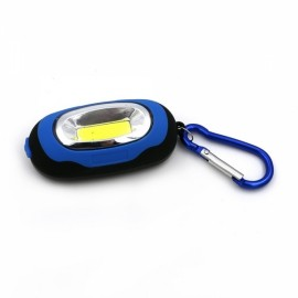Portable Mini Magnetic COB LED KeyChain Flashlight Torch Light Blue