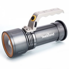 TEEKLAND 1900LM 3-Mode Tactical Zoomable Handheld Rechargeable Flashlight